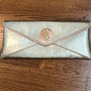 Lilly Pulitzer Gold Envelope Clutch